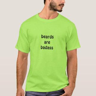 ひげはBadassです Tシャツ