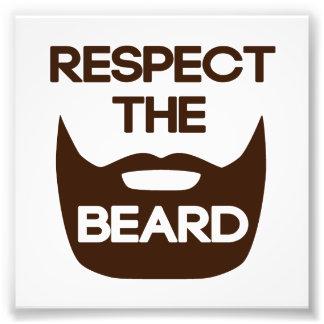 ひげを尊重して下さい フォトプリント