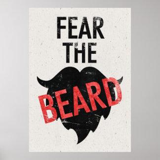 ひげを恐れて下さい ポスター
