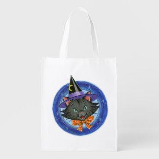 ひげハロウィン猫: エコバッグ