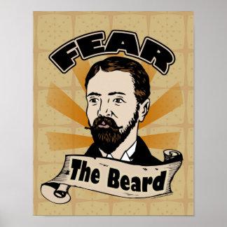 ひげ、おもしろいな髭を恐れて下さい ポスター