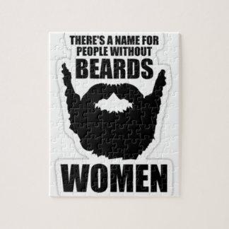 ひげ、女性なしに人々の名前があります! ジグソーパズル