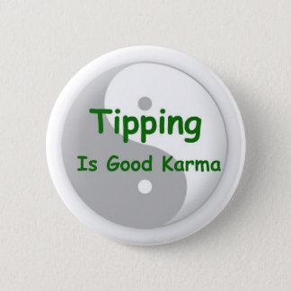ひっくり返ることはよいカルマボタンです 缶バッジ