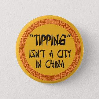 ひっくり返ることは中国の都市ではないです 缶バッジ