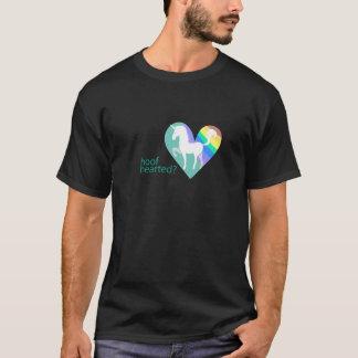 ひづめの心があるか氷によって溶かされる暗いティー Tシャツ