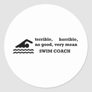 ひどい水泳のコーチ ラウンドシール