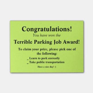 ひどい駐車ポスト・イット ポストイット