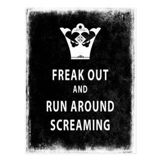 ひどく神経質にし、叫ぶことのまわりで走って下さい ポストカード