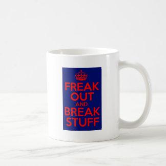 ひどく神経質にし、物を壊して下さい コーヒーマグカップ