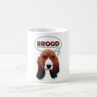 ひなのバセット犬のマグ コーヒーマグカップ