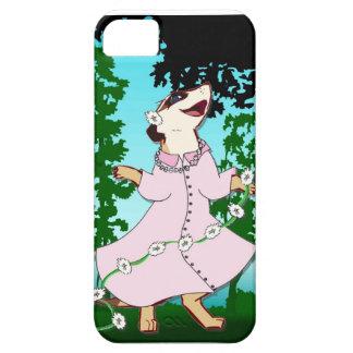 ひな菊の花輪のMeerkat iPhone SE/5/5s ケース