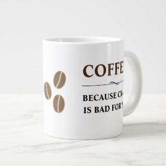 ひびがあなたのために悪いのでコーヒー ジャンボコーヒーマグカップ