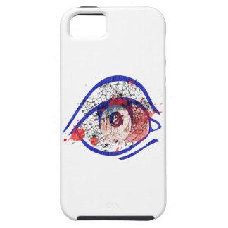ひびが付いている青い充血した目 iPhone 5 ケース