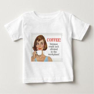 ひびが許可されないのでコーヒー ベビーTシャツ