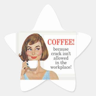 ひびが許可されないのでコーヒー 星シール