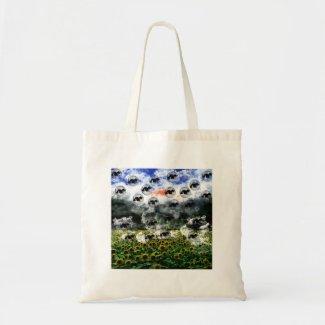 ひまわり畑とネコ 鞄