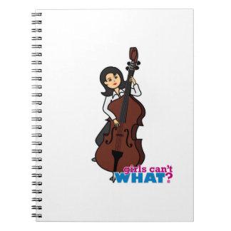 ひものベース奏者の女の子-媒体 ノートブック