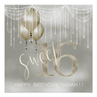 ひものライト及び気球の菓子16シャンペンID473 ポスター