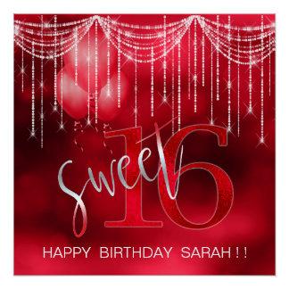 ひものライト及び気球の菓子16赤いID473 ポスター