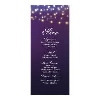 ひもの軽い夕べの結婚式夕食メニュー カード