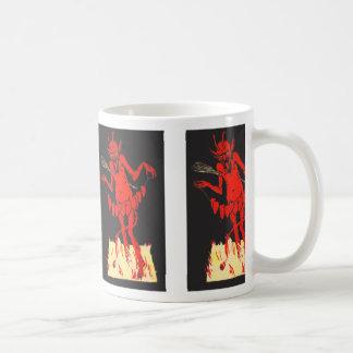 ひものKrampusスイッチハート コーヒーマグカップ