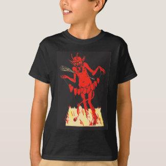 ひものKrampusスイッチハート Tシャツ