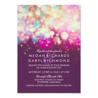 ひもは紫色の結婚式をつけます カード