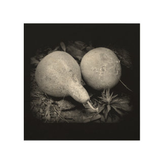 """""""ひょうたん"""" 8 x木の8素朴なイメージ ウッドウォールアート"""