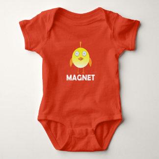 ひよこの磁石-赤ん坊のジャージーのボディスーツ ベビーボディスーツ