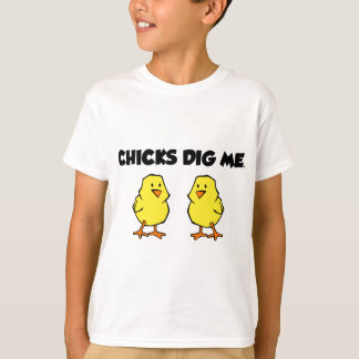 ひよこは私を掘ります Tシャツ