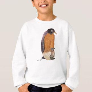 ひよこを持つペンギンロビン スウェットシャツ