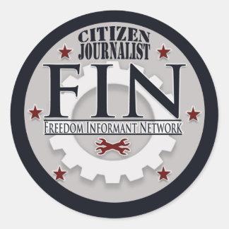 ひれの市民のジャーナリストのステッカー(6)のシート ラウンドシール