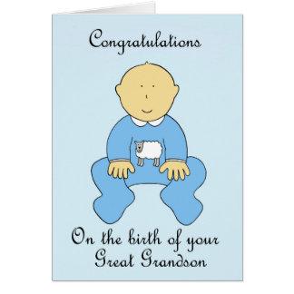 ひ孫の誕生、お祝い グリーティングカード
