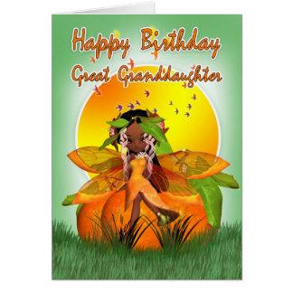 ひ孫娘のバースデー・カード- Mooniesの柑橘類 カード