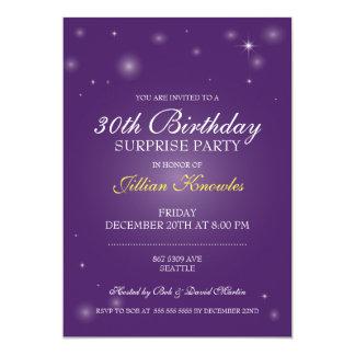 びっくりパーティのエレガントな紫色の球体の星 カード