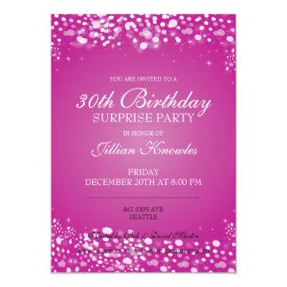 びっくりパーティのピンクの輝きの紙吹雪 カード