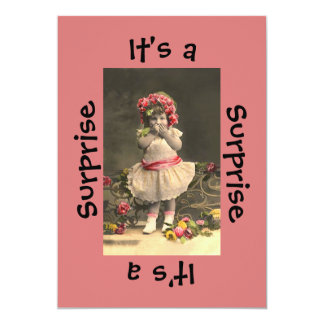 びっくりパーティの女の子 カード
