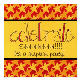 びっくりパーティの招待 カード