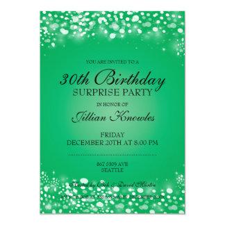 びっくりパーティの緑の輝きの紙吹雪 カード