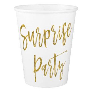 びっくりパーティの金ゴールドホイルの紙コップ 紙コップ