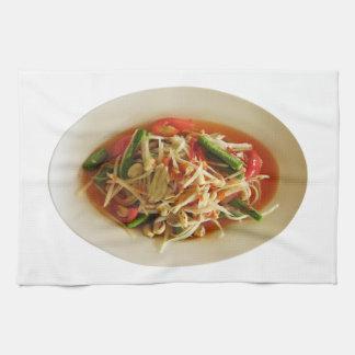 ぴりっとするパパイヤサラダ[ソムTam] キッチンタオル
