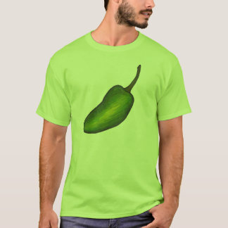 ぴりっとする緑の熱いハラペーニョのコショウはティーをふりかけます Tシャツ