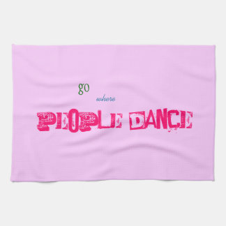ふきん-人々のダンス キッチンタオル