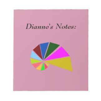 ふざけて幾何学的なかたつむり ノートパッド