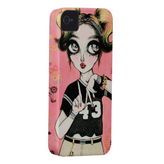 「ふみこ」のブラックベリーの箱 Case-Mate iPhone 4 ケース