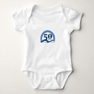 ふもとの小丘は50のロゴの赤ん坊のワイシャツ-色--を回します ベビーボディスーツ