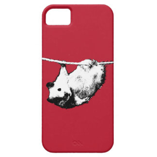 ぶら下がったなハムスター、赤いiPhoneの箱 iPhone SE/5/5s ケース