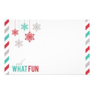 ぶら下がったな雪片のフェスティバルの休日 便箋