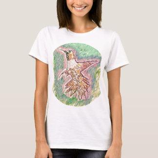 ぶんぶんいう鳥のスタイル: この女性の基本的なTシャツbas Tシャツ