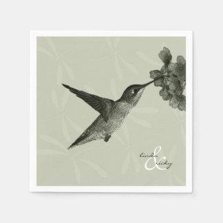 ぶんぶんいう鳥のヴィンテージ スタンダードカクテルナプキン